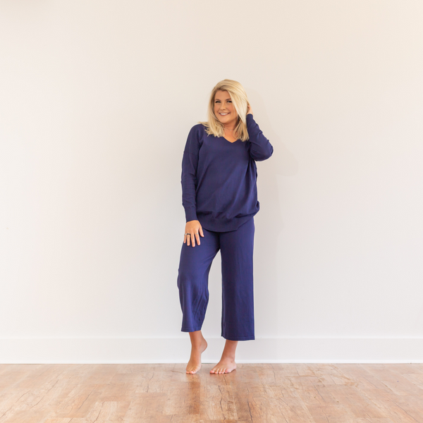 Lounge Sweater - Blue - Shop Amour Boutique