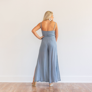 Slit Leg Jumpsuit - Shop Amour Boutique