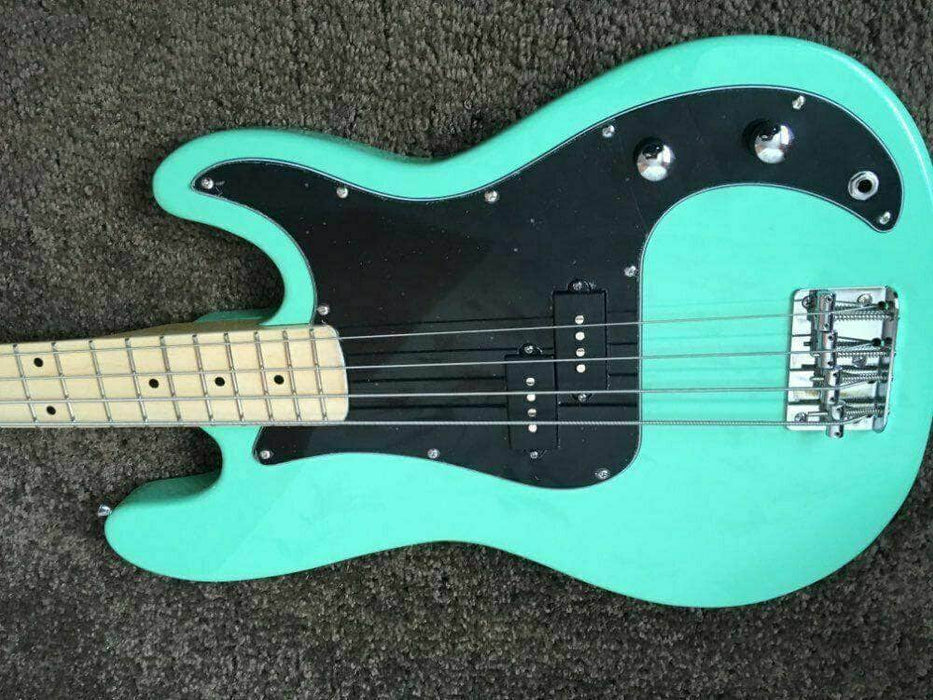 New 100% Handmade HighQuality Precision Electric Bass Guitar Light Green Black P