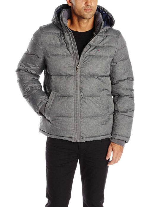 Tommy Hilfiger Men's Insulated Quilted Classic 100% Nylon Puffer Hooded Jacket - ComplexExpress