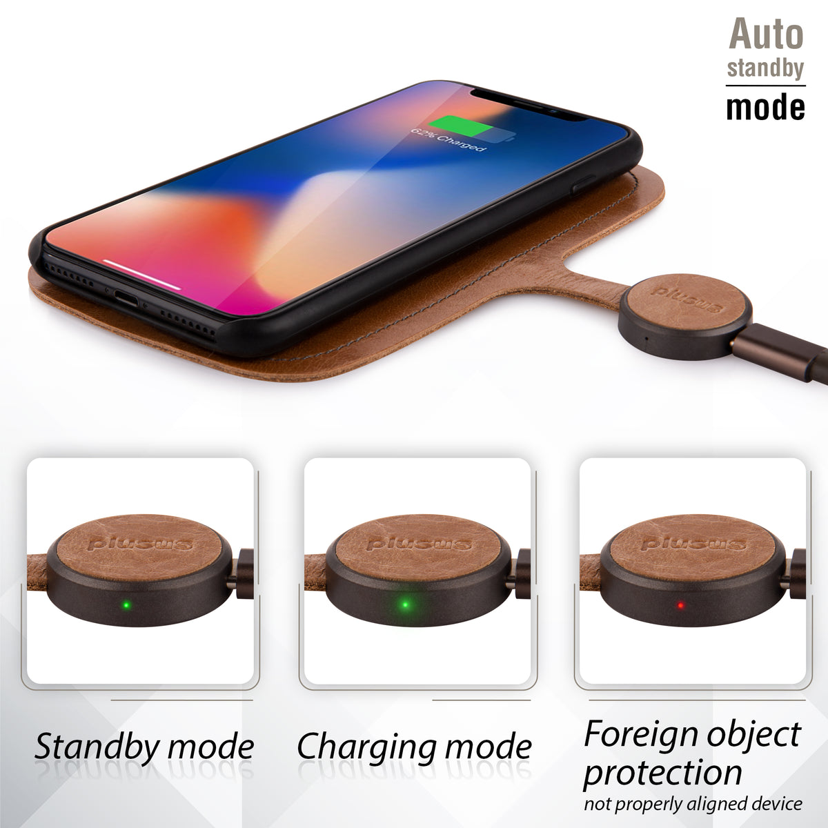 Xpad Wireless Charging Pad - Tuscan Leather