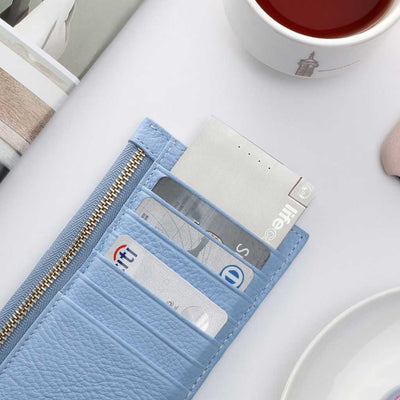 LifeCard Ultra Portable Power - Built-in USB-C Cable - Stainless Steel Finish