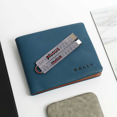 Lifelink Cable Grey - USB-C to USB - Wallet Fit Portable Cable