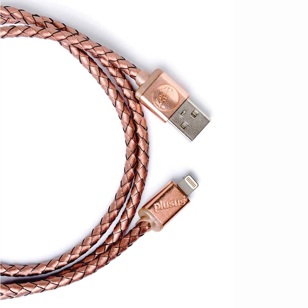 Lifestar Premium cable- Rose Gold Braided -Apple MFi certified Lightning