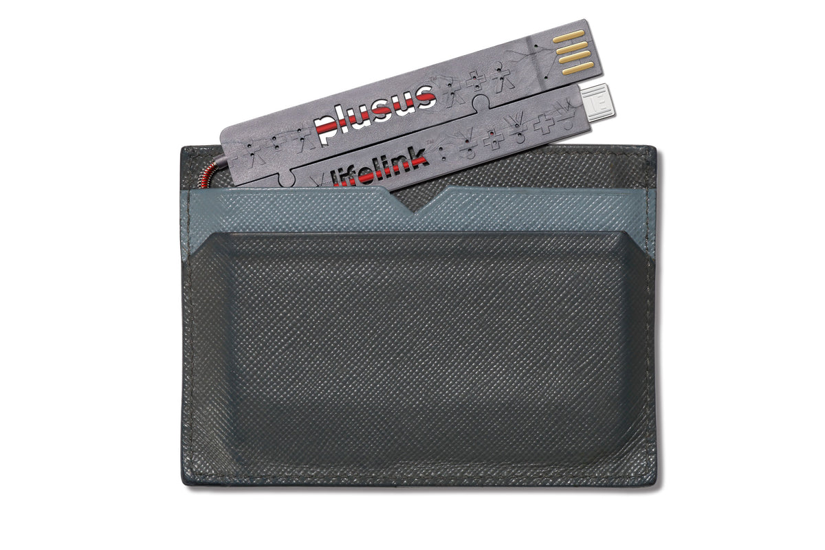 Lifelink Cable Grey - Micro to USB - Wallet Fit Portable Cable