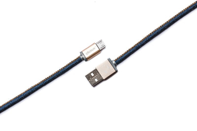 LifeStar Charging Cable - Denim Blues - Micro USB to USB