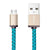 Lifestar Charging Cable - Cross Turquoise - Micro USB to USB