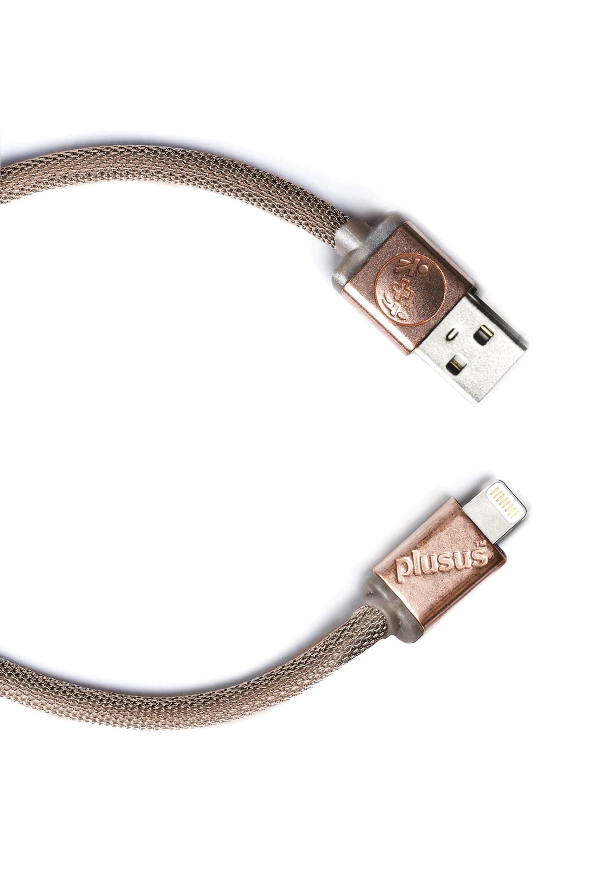 Lifestar Designer Cable - Gold Mesh finish- Apple MFi certified Lightning