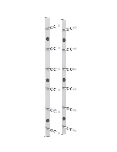 2 ft Wall Mounted Metal Rails Wine Rack 6 - 18 Bottles (Horizontal),2 foot Horizontal Wall Mounted Rails