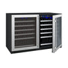 "Allavino 47"" Wide FlexCount II Tru-Vino 112 Bottle Dual-Zone Stainless Steel Side-by-Side Wine Refrigerator"