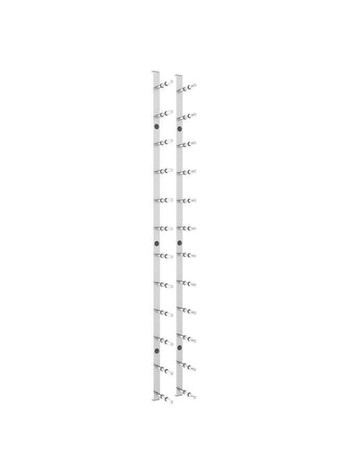4 ft Wall Mounted Metal Rails Wine Rack 12 - 36 Bottles (Horizontal),4 Foot Horizontal Wall Mounted Rails
