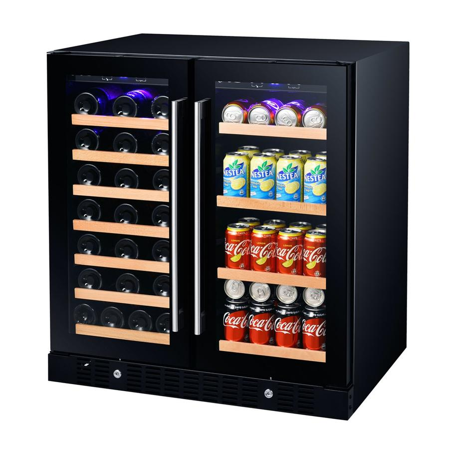 Smith and Hanks Wine & Beverage Cooler, Smoked Black Glass Door