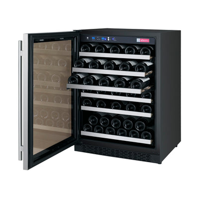 "Allavino 24"" Wide FlexCount II Tru-Vino Series 56 Bottle Single Zone Stainless Steel Wine Refrigerator"
