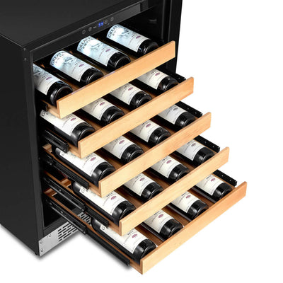 Whynter 24″ Built-In Stainless Steel 54 Bottle Wine Refrigerator Cooler