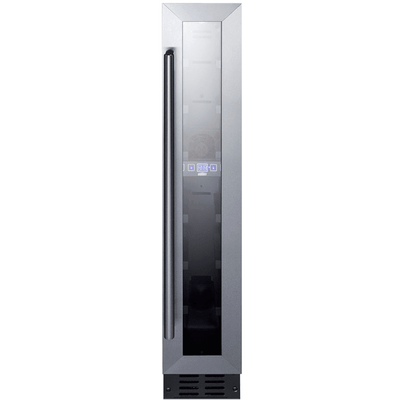 7 Bottle Built-In Wine Refrigerator - Black and Stainless Steel,SWC007