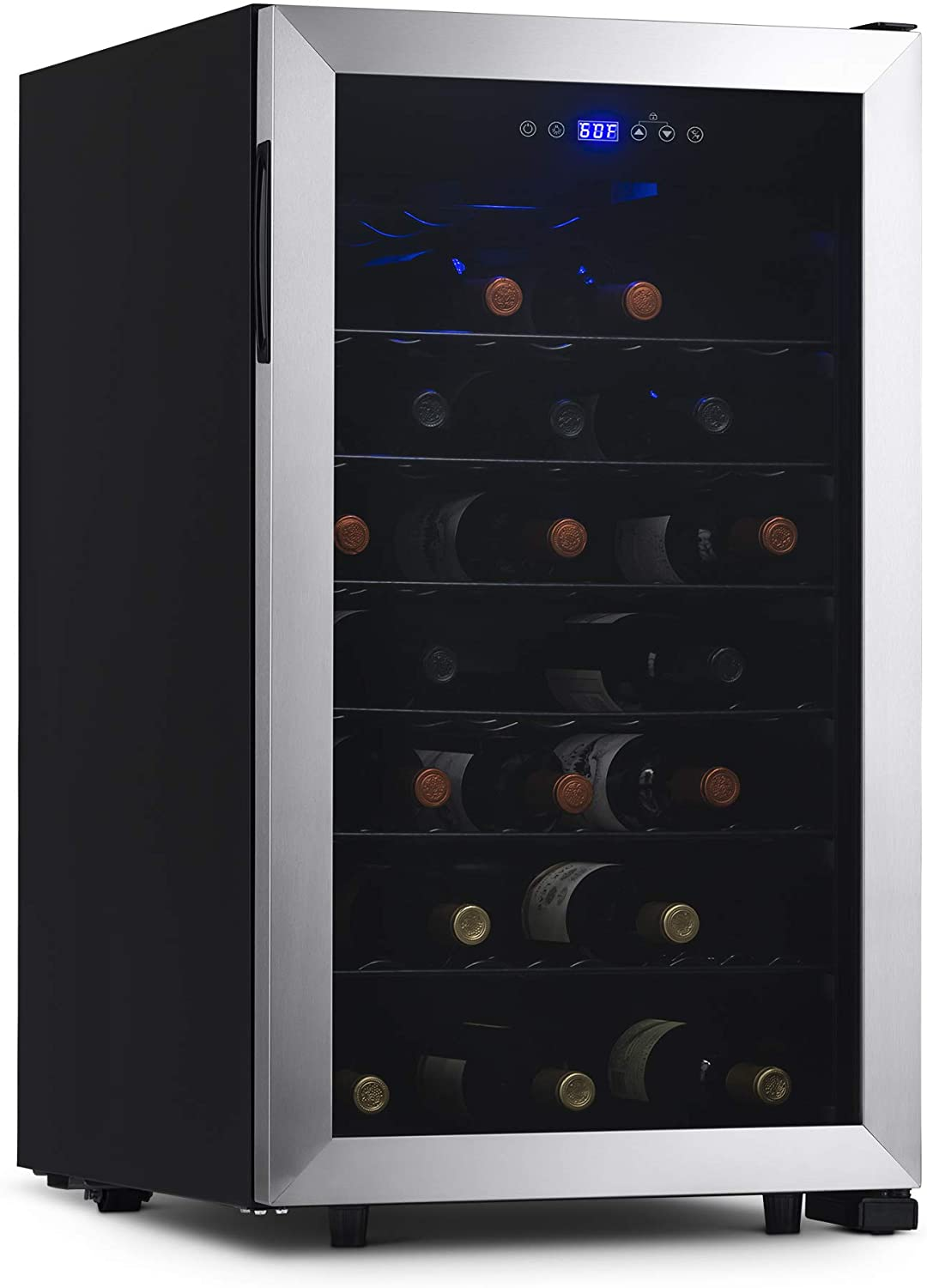NewAir Freestanding 50 Bottle Wine Fridge in Stainless Steel