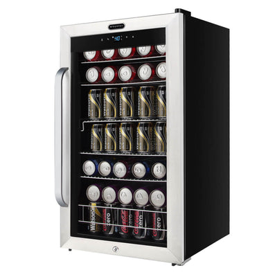 Whynter Freestanding 121 Can Beverage Refrigerator with Digital Control and Internal Fan