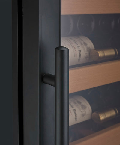 "Allavino 24"" Wide Vite II 99 Bottle Single Zone Black Right Hinge Wine Refrigerator"