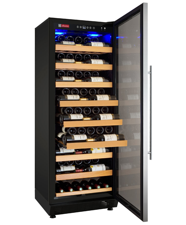 "Allavino 24"" Wide Vite II Tru-Vino 99 Bottle Single Zone Stainless Steel Right Hinge Wine Refrigerator"