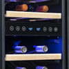 "NewAir 15"" Built-in 29 Bottle Dual Zone Wine Fridge in Black Stainless Steel"