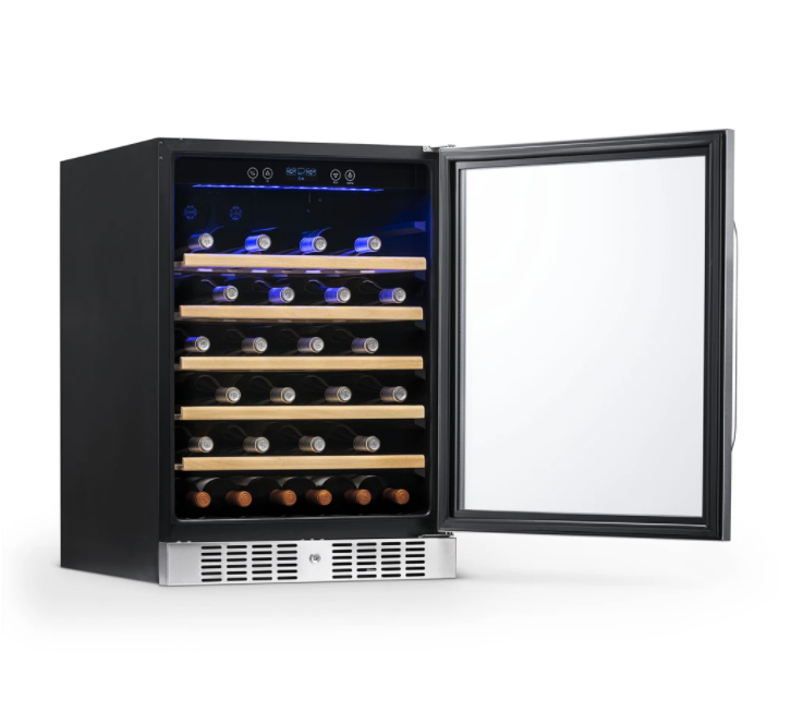 "NewAir 24"" Built-In 52 Bottle Compressor Wine Fridge in Stainless Steel"