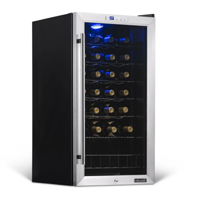 NewAir Freestanding 27 Bottle Compressor Wine Fridge