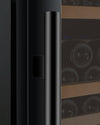 "Allavino 47"" Wide FlexCount II Tru-Vino 349 Bottle Three Zone Black Side-by-Side Wine Refrigerator"