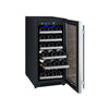 "Allavino 15"" Wide FlexCount II Tru-Vino 30 Bottle Single Zone Stainless Steel Wine Refrigerator"