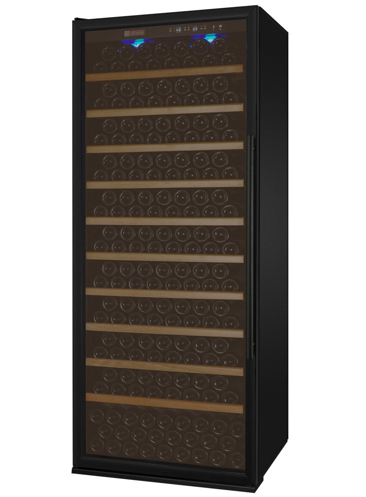 "Allavino 32"" Wide Vite II Tru-Vino 277 Bottle Single Zone Black Wine Refrigerator"