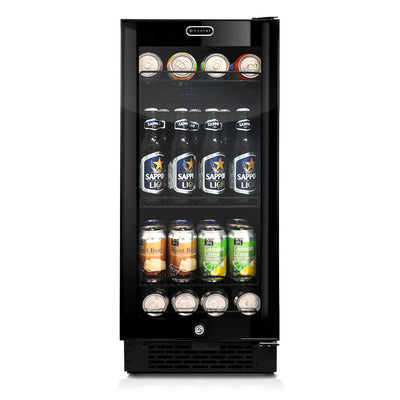 Whynter Built-in Black Glass 80-can capacity 3.4 cu ft. Beverage Refrigerator