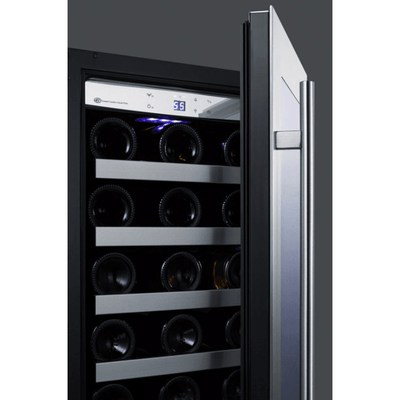 "Classic 15"" 34 Bottle Stainless Steel Frame Glass Door Built-In Undercounter Wine Chiller,CL15WCCSS"