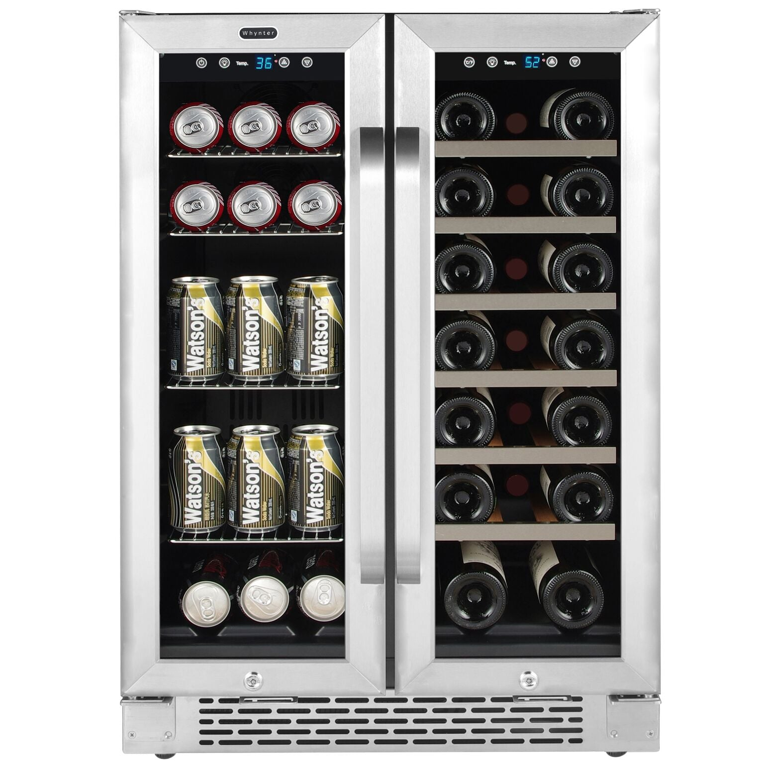 Whynter 20-Bottle/60-Can Undercounter Wine and Beverage Cooler - BWB-2060FDS,BWB-2060FDS