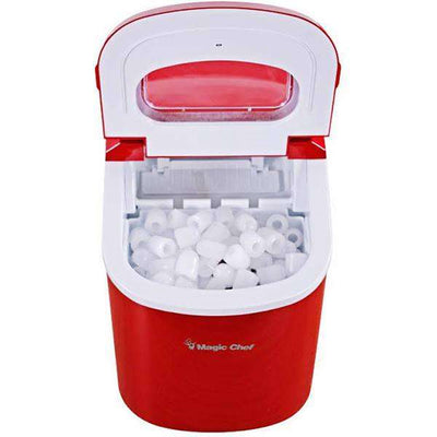 "Magic Chef MCIM22R Portable Ice Cube Maker - 9.5"" - RED,MCIM22R"