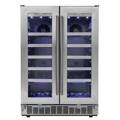 "Silhouette Professional Napa 42-Bottle Dual Zone Wine Cooler - 23.8"" Stainless DWC047D1BSSPR,DWC047D1BSSPR"