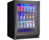 "Silhouette Select Prague 24"" Single Zone Built-In Beverage Center - Black Stainless Steel,SSBC056D2B-S"