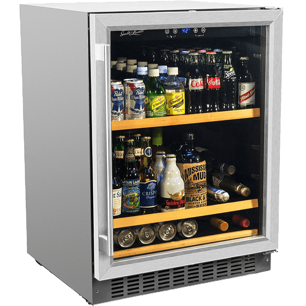 Smith & Hanks 178 Can Beverage Cooler, Stainless Steel Door Trim