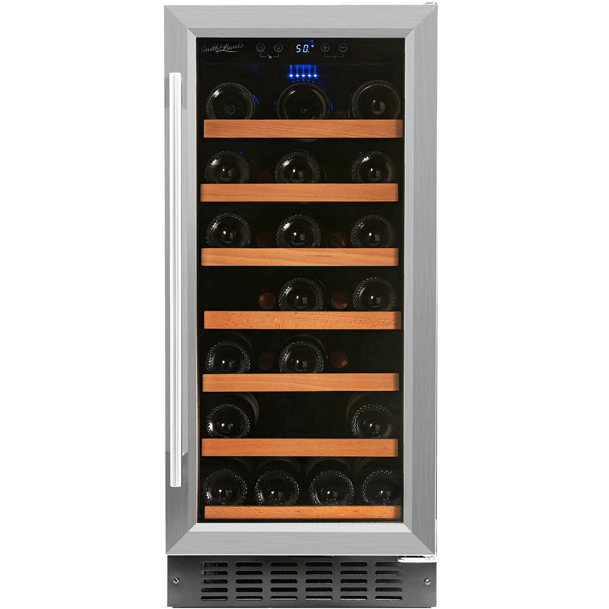 Smith & Hanks 34 Bottle Single Zone Wine Cooler, Stainless Steel Door Trim