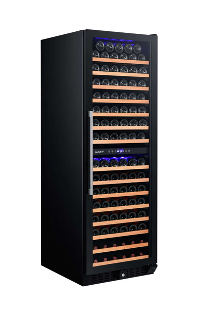 Smith & Hanks 166-Bottle Dual Zone Wine Cooler, Smoked Black Glass - RW428DRG,RW428DRG