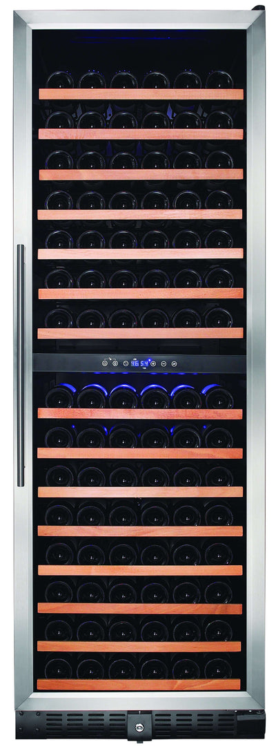 Smith & Hanks 166-Bottle Dual Zone Wine Cooler, Smoked Black Glass - RW428DR,RW428DR
