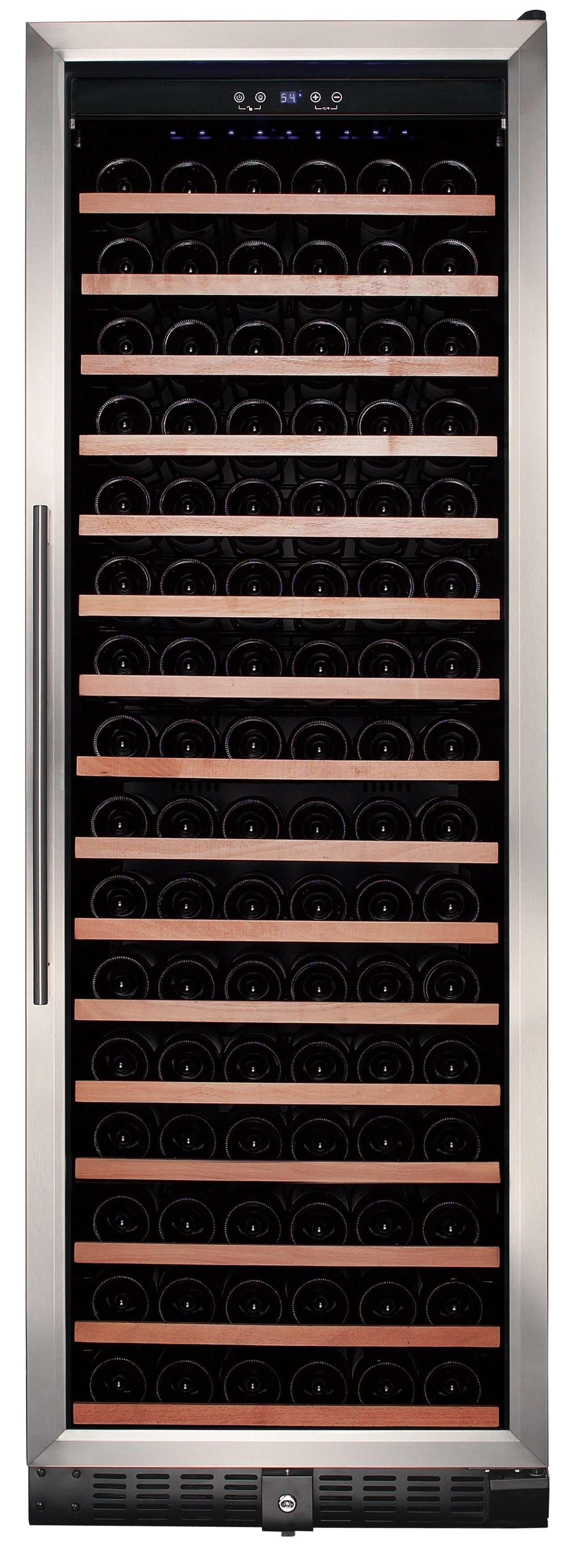 Smith & Hanks 166-Bottle Single Zone Wine Cooler, Smoked Black Glass - RW428SR,RW428SR