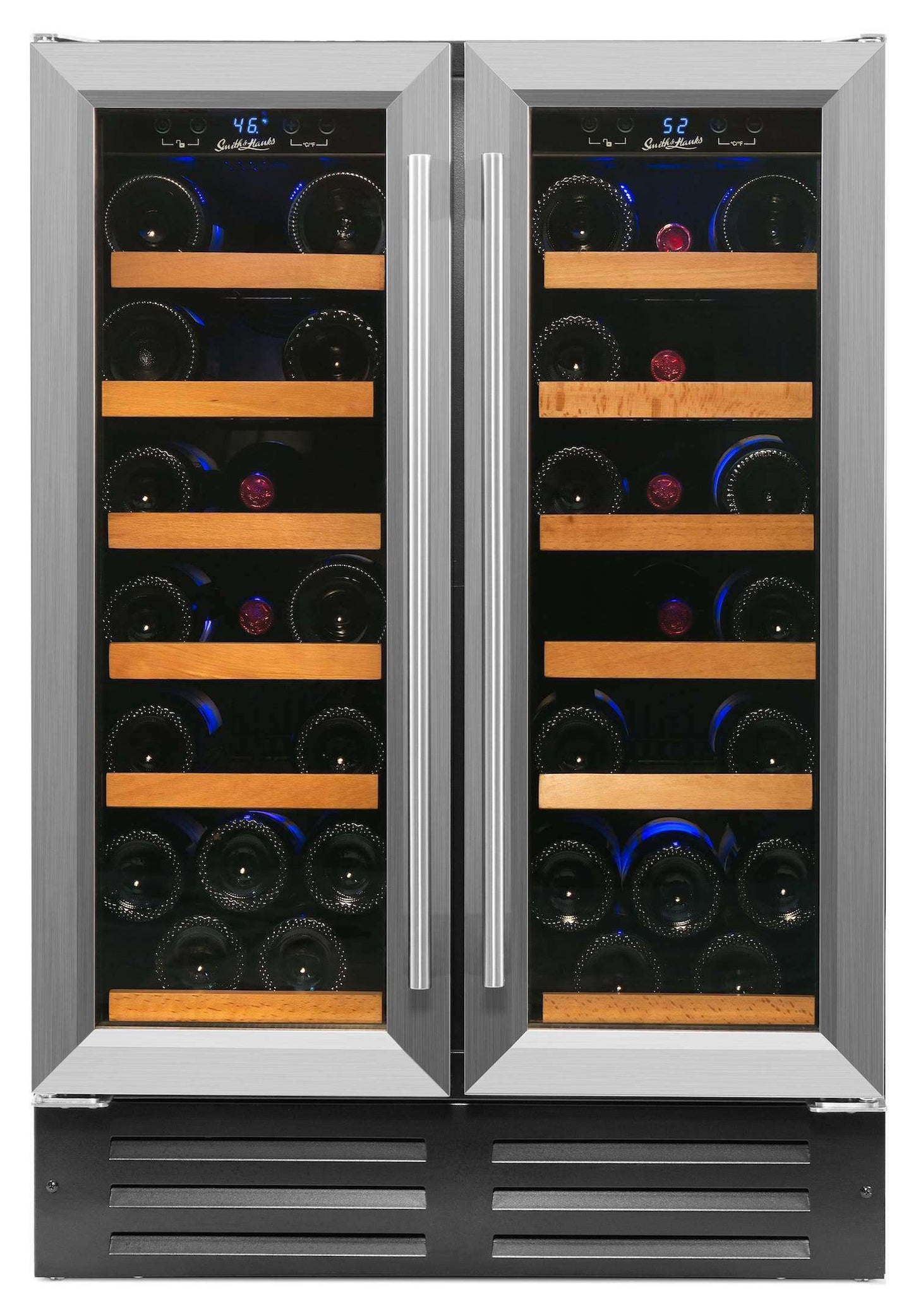 Smith & Hanks 40 Bottle Dual Zone Built-In or Free Standing Wine Cooler - RW116D,RW116D