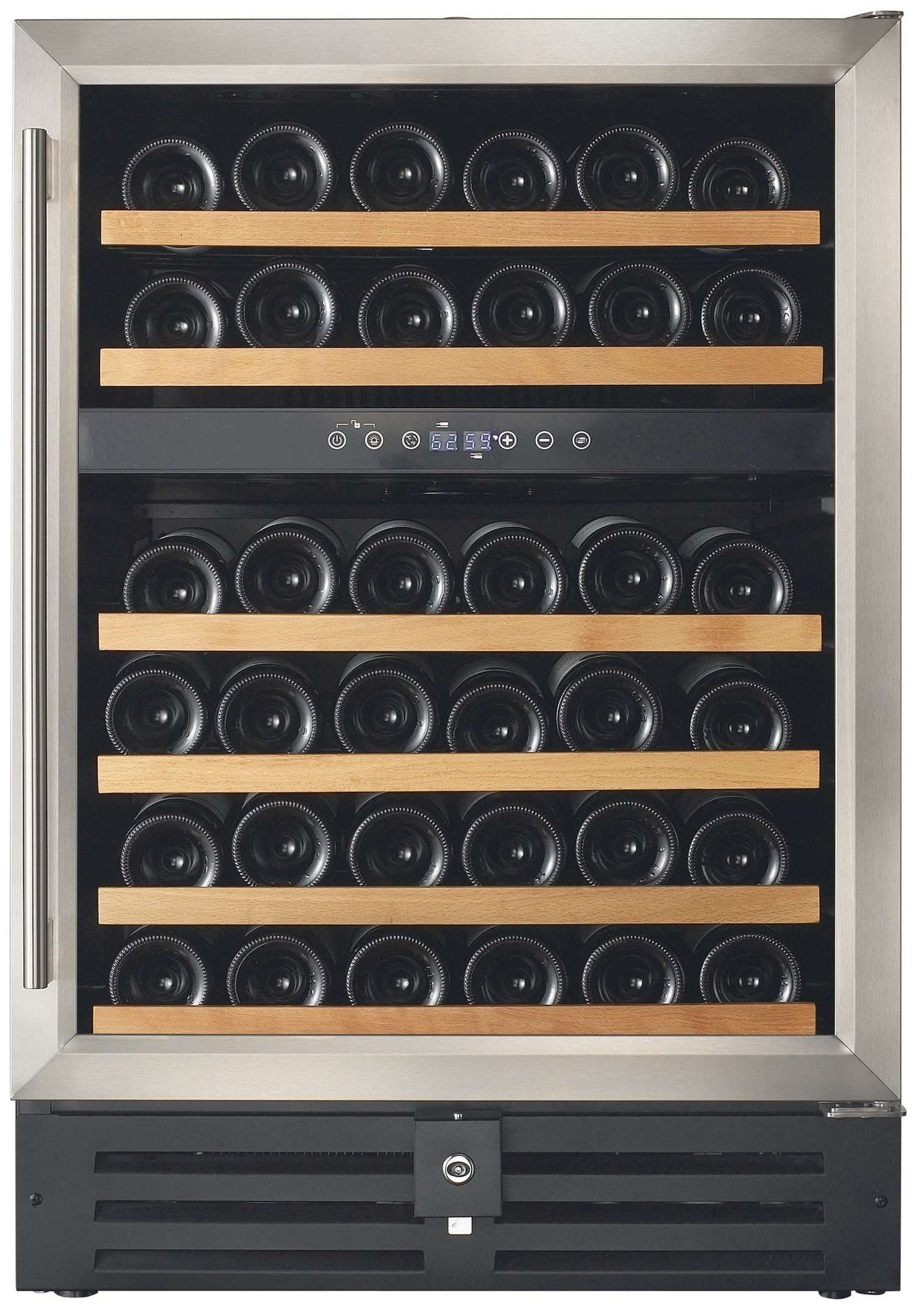 Smith & Hanks 46 Bottle Dual Zone Built-In or Free Standing Wine Cooler - RW145DR,RW145DR