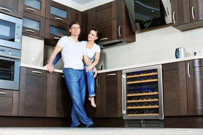 Smith & Hanks Professional Series 46-Bottle Dual Zone Built-In or Free Standing Wine Cooler - RW145DRE,RW145DRE