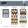 Summit - 29-Bottle Capacity Stainless Steel Trimmed Glass Door & Black Cabinet Built-In/Freestanding Wine Cellar,CL18WC