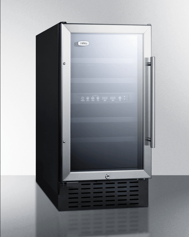 Summit 18 Inch Wide 28 Bottle Capacity Built-In ADA Compliant Wine Cooler with Door Lock - SWC182ZADA,SWC182ZADA