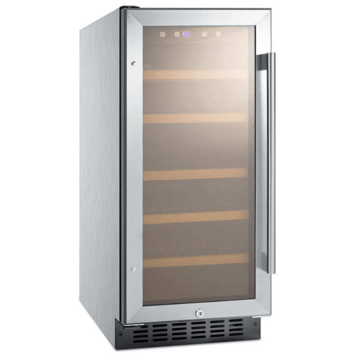 Summit Appliance 15 in. 23-Bottle Built-in Wine Cooler, ADA Height, ALWC15CSS,ALWC15CSS