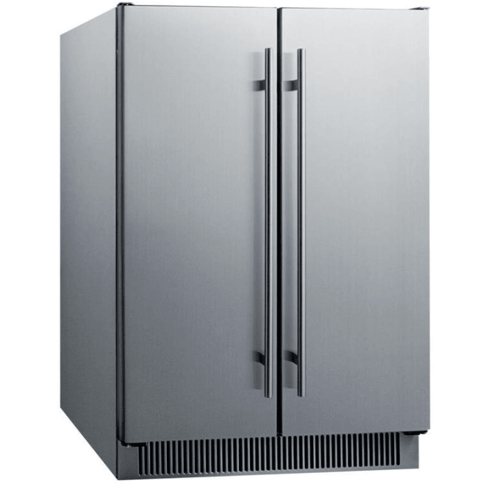 Summit Appliance 21-Bottle Capacity Stainless Steel Dual Zone Cooling Built-In/Freestanding Wine Chiller,CL64FDSS