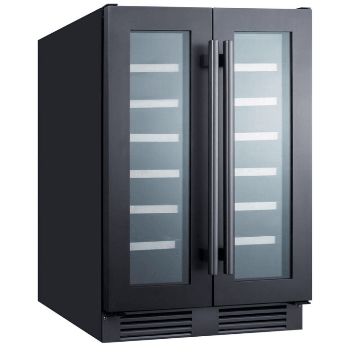 Summit Appliance 42 Bottle Dual Zone Wine Cellar, Black SWC24GKS,SWC24GKS
