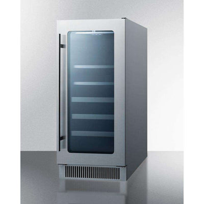 Summit Classic Built in or Free Standing Wine Cooler 34 Bottle - Stainless Steel CL151WBVCSS,CL151WBVCSS