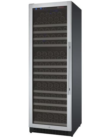 "Allavino 24"" Wide FlexCount II Tru-Vino 177 Bottle Single Zone Stainless Steel Wine Refrigerator"